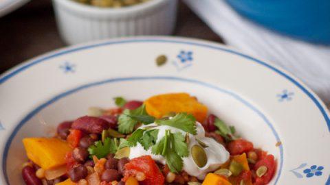 Vegetarian chilli on eatlivetravelwrite.com