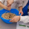 Kids stirring granola bar ingredients on eatlivetravelwrite.com