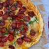 Slow roasted tomato and mozzarella pizza on eatlivetravelwrite.com