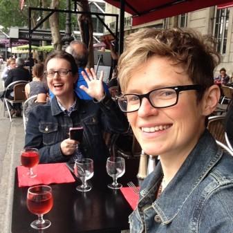 Mardi Michels and Monica Shaw in Paris on eatlivetravelwrite.com