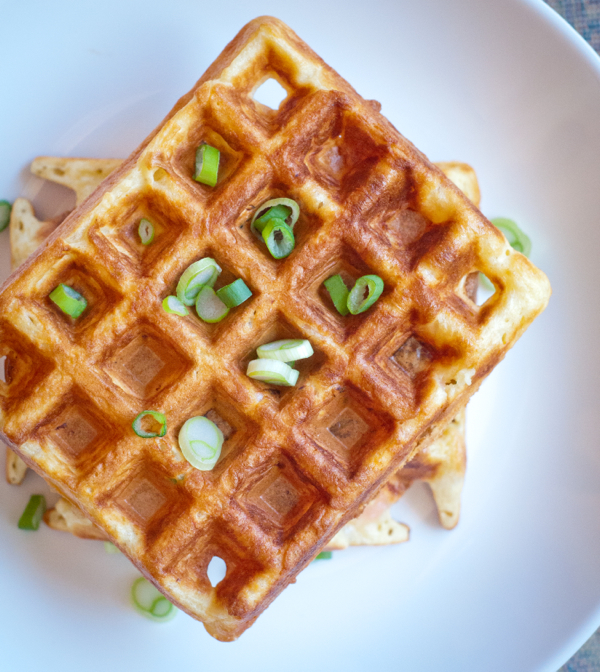 Dorie Greenspan waffles with smokes salmon on eatlivetravelwrite.com