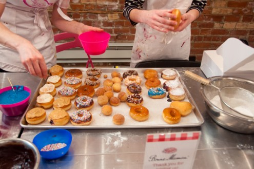 Decorating donuts with Christine Tizzard and Louisa Clements at Le Dolci on eatlivetravelwrite.com