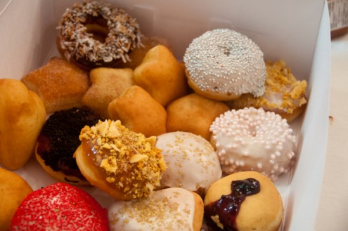 Mary Catherine Anderson's decorated donuts at Le Dolci class on eatlivetravelwrite.com
