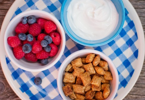 Berries, yoghurt and Barbara's Puffins on eatlivetravelwrite.com