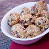 Fruit and nut peanut butter bites on eatlivetravelwrite.com