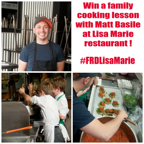 Win a cooking lesson with Matt Basile from Lisa Marie Restaurant
