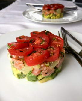 Salmon tartare from Around my French Table on eatlivetravelwrite.com
