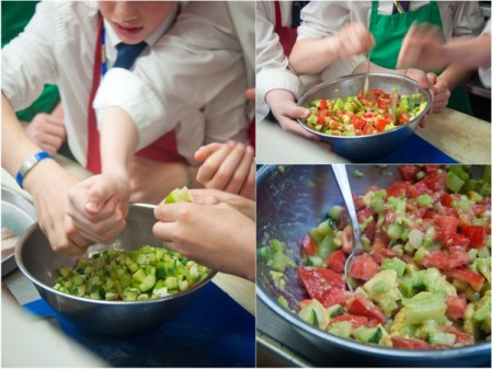 Kids making fresh salsa on eatlivetravelwrite.com