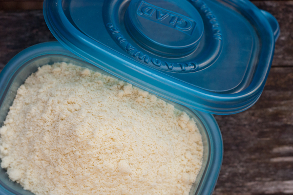 Storing almond flour in GLAD FreezerWare containers on eatlivetravelwrite.com