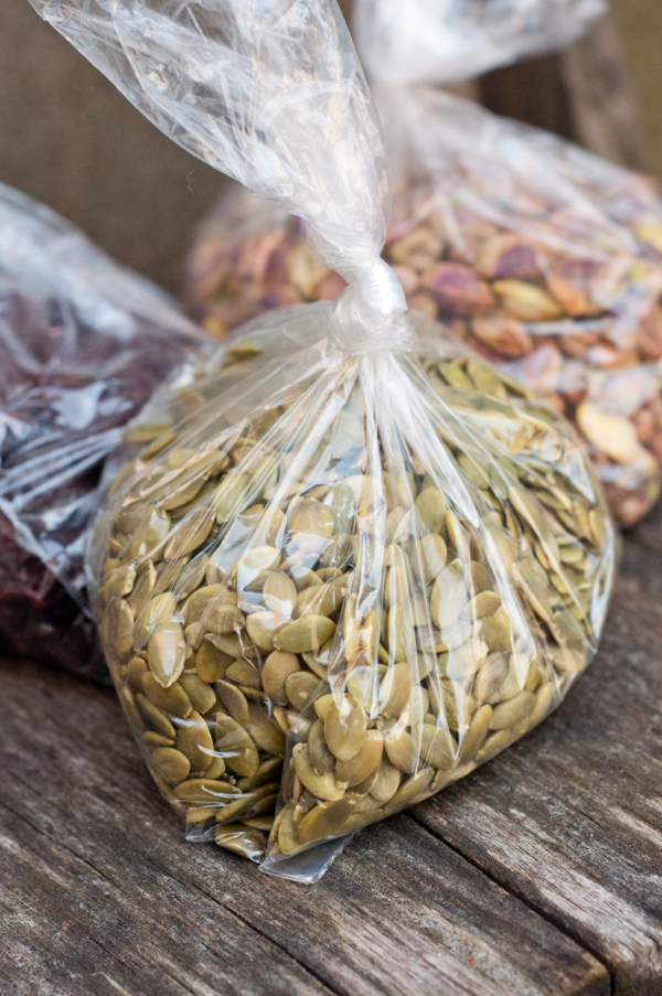 Bulk nuts in plastic bags on eatlivetravelwrite.com