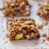 Chewy chocolate cherry and nut granola square on eatlivetravelwrite.com