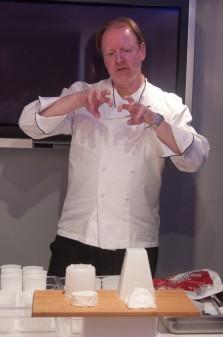 Chef Martin Kouprie explains cheesemaking at Pangaea Restaurant on eatlivetravelwrite.com