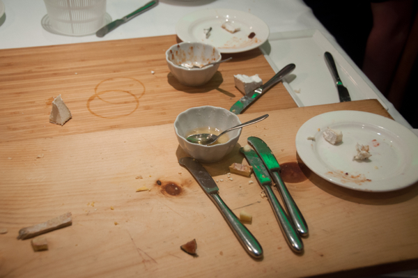 Aftermath of kids cheese tasting at Pangaea Restaurant on eatlivetravelwrite.com