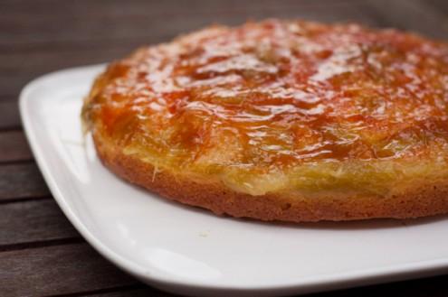 Dorie Greenspan rhubarb brown sugar cake from Baking Chez Moi on eatlivetravelwrite.com