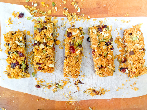 chewy cereal bars with a crunch