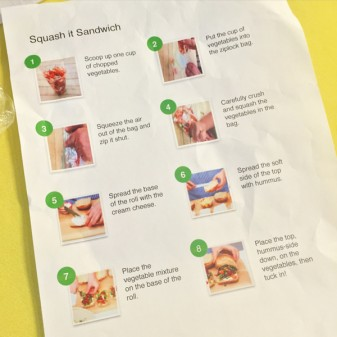 Squash it Sandwich Instructions for Northview Heights on eatlivetravelwrite.com