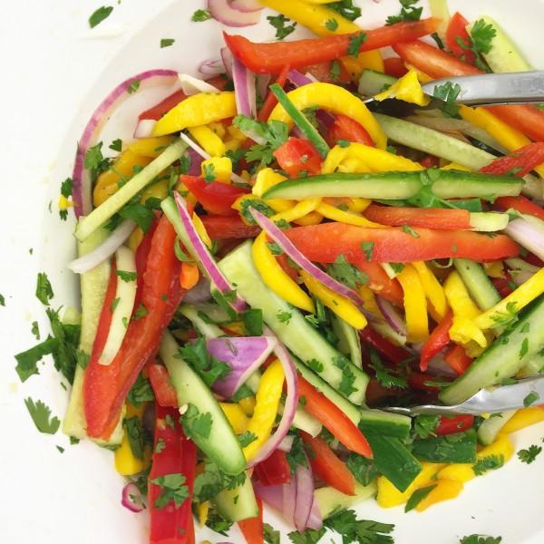 Mango salad on eatlivetravelwrite.com