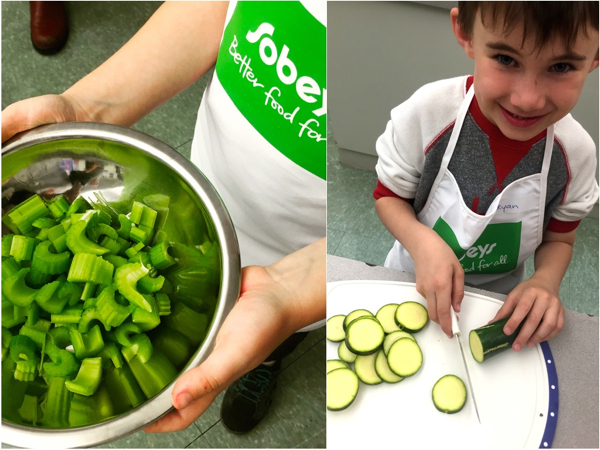 Kids chopping vegetables for Food Revolution Day on eatlivetravelwrite.com