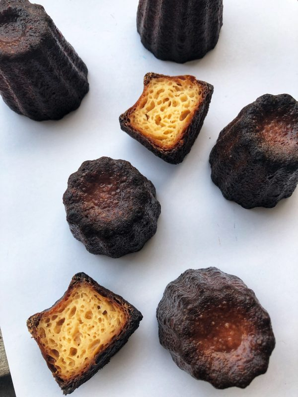 Perfect caneles made in silicone molds on eatlivetravelwrite.com