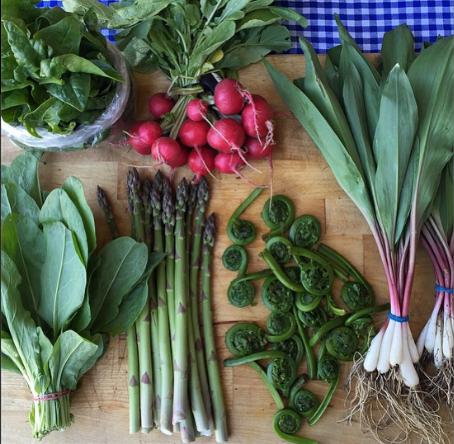 Spring produce by Front Door Organics on eatlivetravelwrite.com