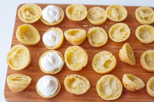 Cream puffs filled on eatlivetravelwrite.com