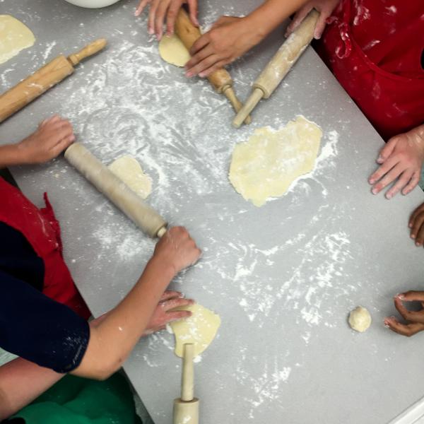 Kids rolling galette dough on eatlivetravelwrite.com