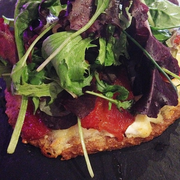 "Fabulous ""tarte fine"" with tomatoes and chèvre at Le Moin des Saveurs in #Barbaste on eatlivetravelwrite.com"