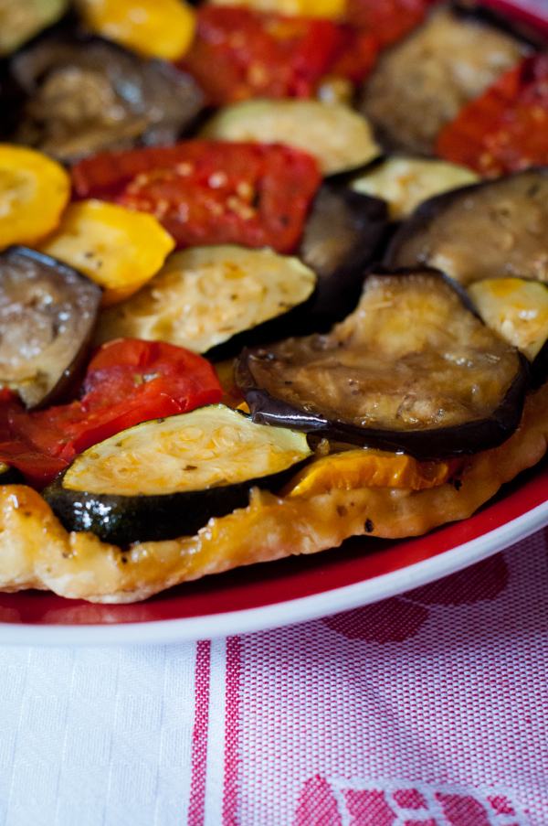 Tarte Tatin with vegetables on eatlivetravelwrite.com