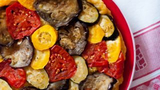 Tatin de légumes (Vegetable tarte tatin)