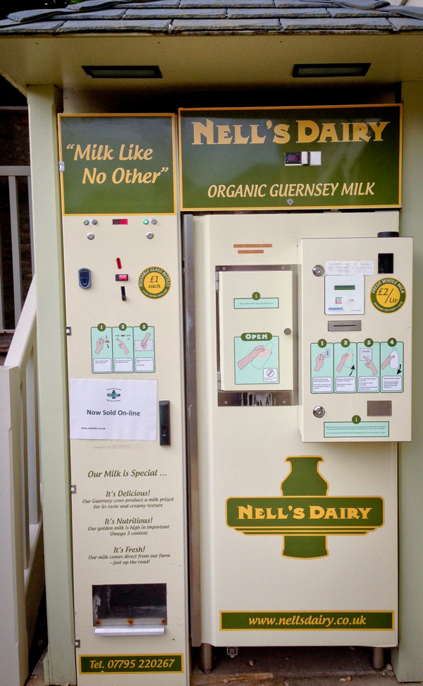 Nells Dairy milk vending machine at The Kingham Plough on eatlivetravelwrite.com