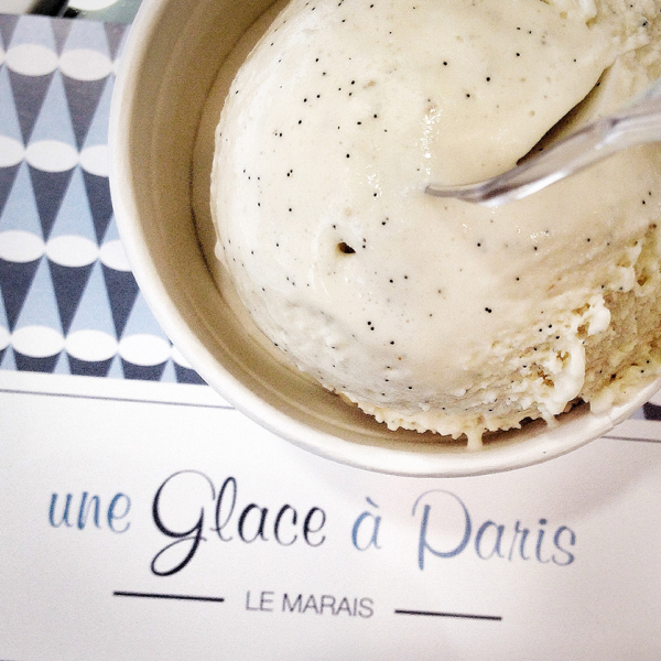 Smoked Vanilla ice cream from Une Glace a Paris Paris on eatlivetravelwrite.com