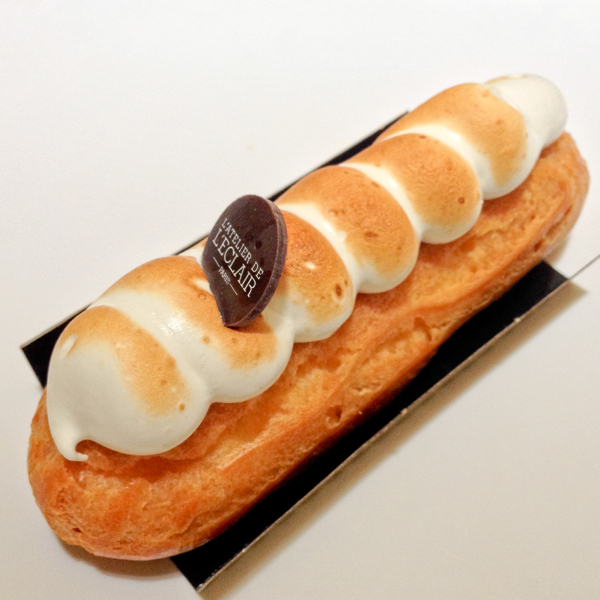 Lemon meringue citron meringue eclair from Atelier de lEclair Paris on eatlivetravelwrite.com