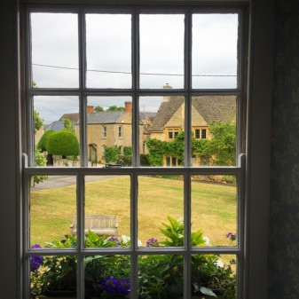 View from the window at The Kingham Plough on eatlivetravelwrite.com