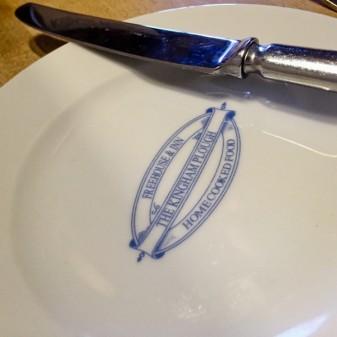 Table setting at The Kingham Plough on eatlivetravelwrite.com