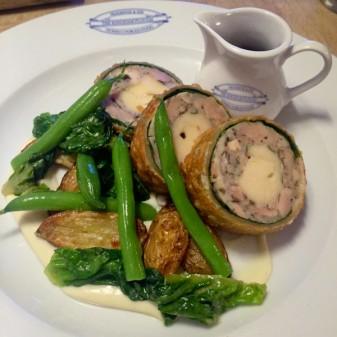 Chicken wellington at The Kingham Plough on eatlivetravelwrite.com