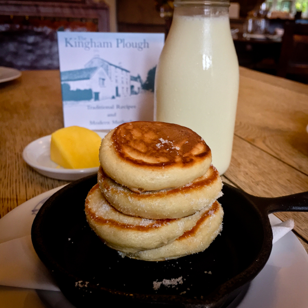 Drop Scones at The Kingham Plough on eatlivetravelwrite.com