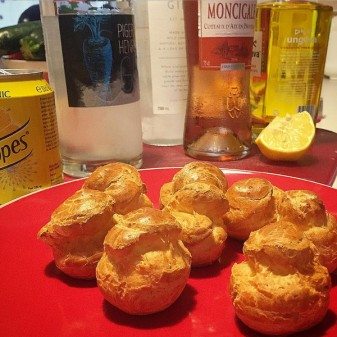 Gougeres for aperitif hour on eatlivetravelwrite.com
