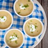 Cold leek and potato soup on eatlivetravelwrite.com
