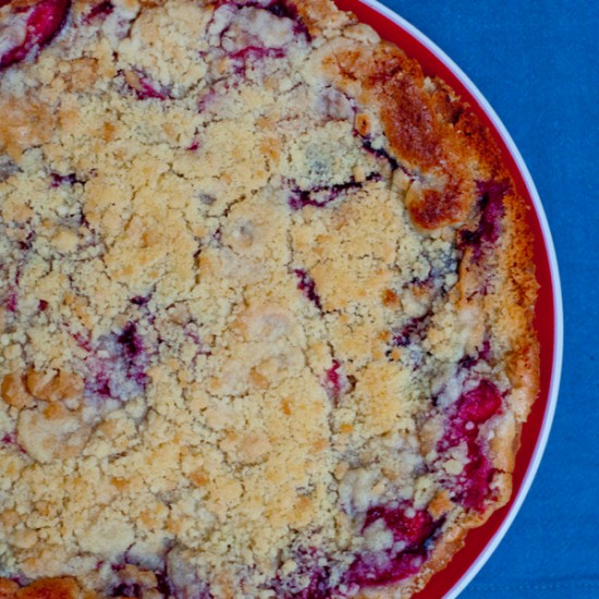 Plum crumb tart from Baking Chez Moi on eatlivetravelwrite.com