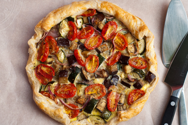 Quiche with ratatouille on eatlivetravelwrite.com