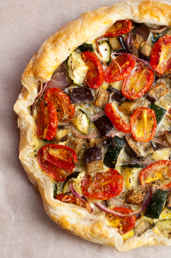 Ratatouille quiche on eatlivetravelwrite.com