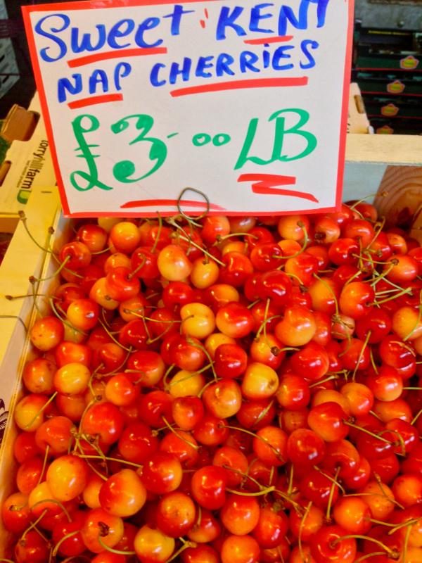 Nap cherries at the Borough Market on eatlivetravelwrite.com