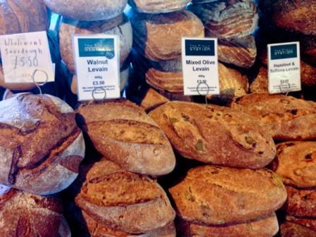 Bread selection at the Borough Market on eatlivetravelwrite.com