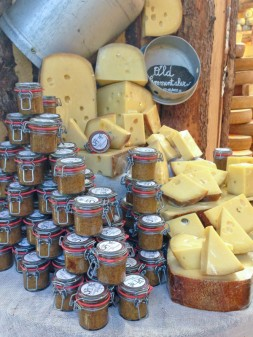 Cheeses and mustards at the Borough Market on eatlivetravelwrite.com