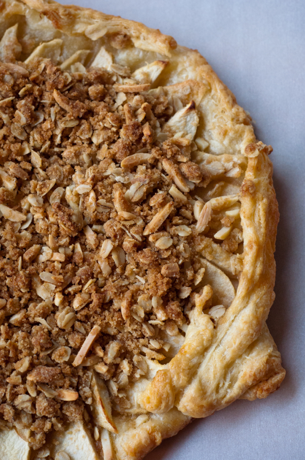Apple crumble in a galette on eatlivetravelwrite.com