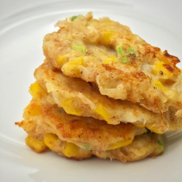 Everyday Super Food corn and cheese pancakes on eatlivetravelwrite.com