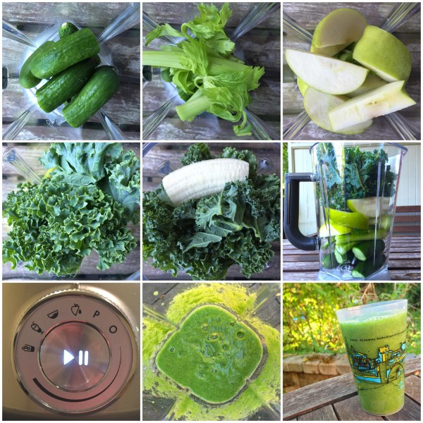 Green veggie juice smoothie on eatlivetravelwrite.com