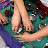 Kids making Amy Bronee's cranberry sauce on eatlivetravelwrite.com