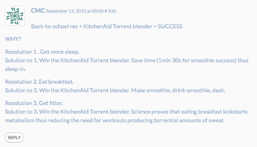 KitchenAid Torrent Blender winner on eatlivetravelwrite.com
