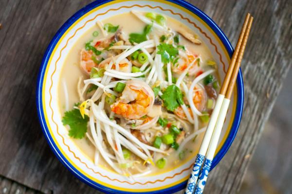 Thai Coconut Noodle Soup With Shrimp Eat Live Travel